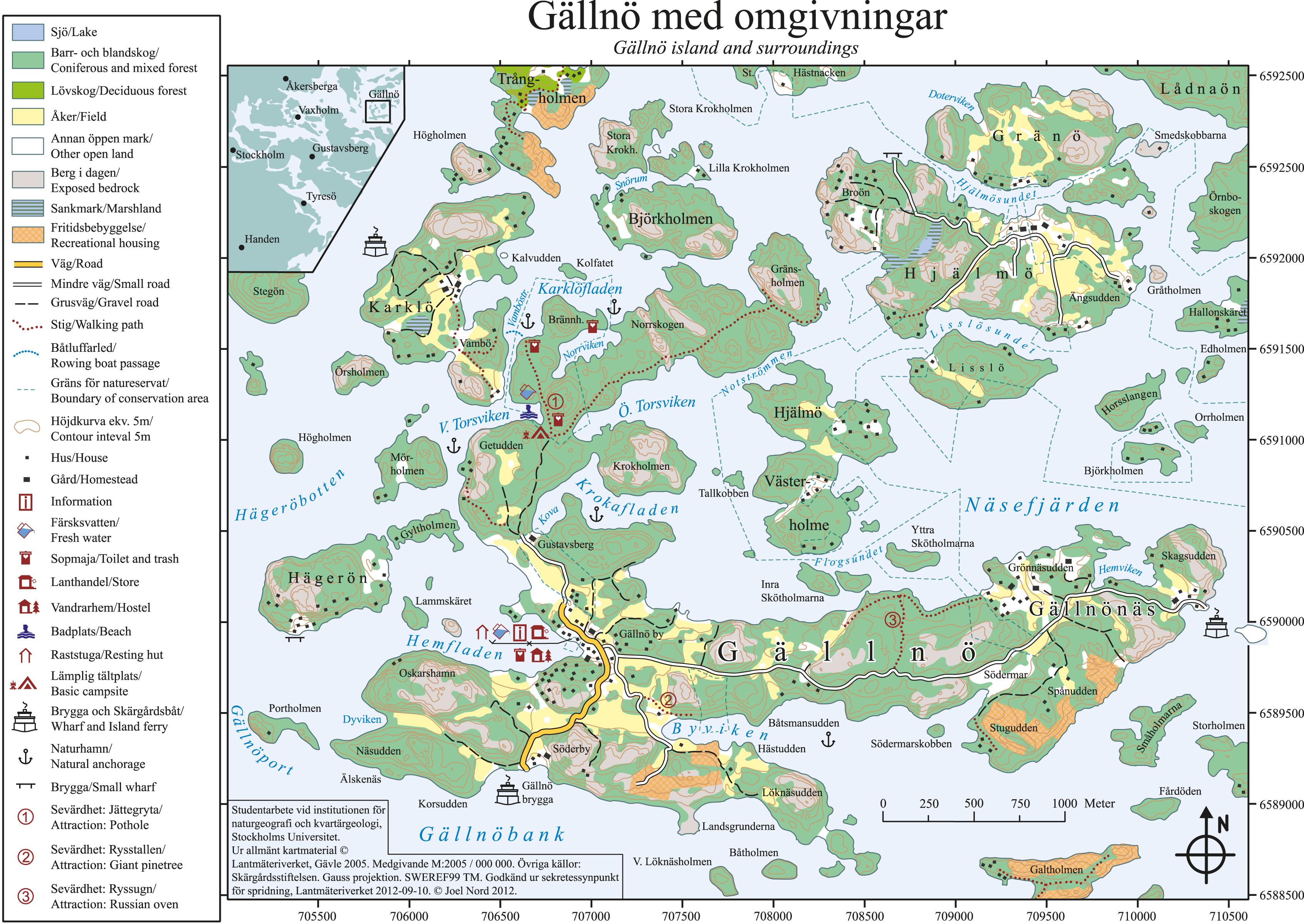 gällnö karta Karta | Gällnö Vandrarhem, Bar, Cafe och Handelsbod gällnö karta